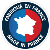 made in france logo on blue background