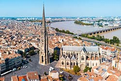 bordeaux city from the sky
